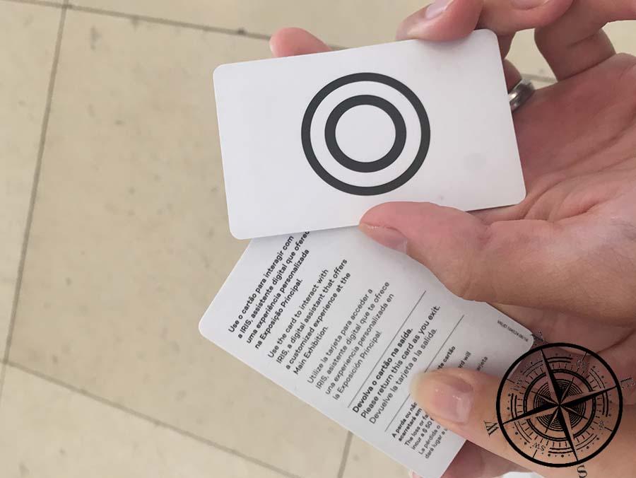 Mittels der ID Karte konnte man interatkive Ausstellungen aktivieren.