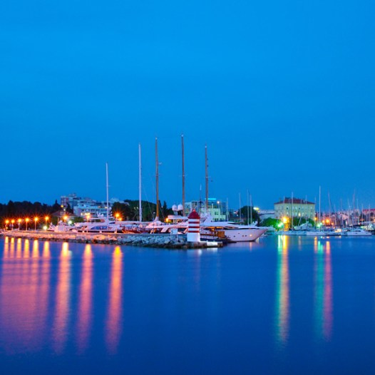 Farbenfrohe Abendstimmung in Zadar/Kroatien