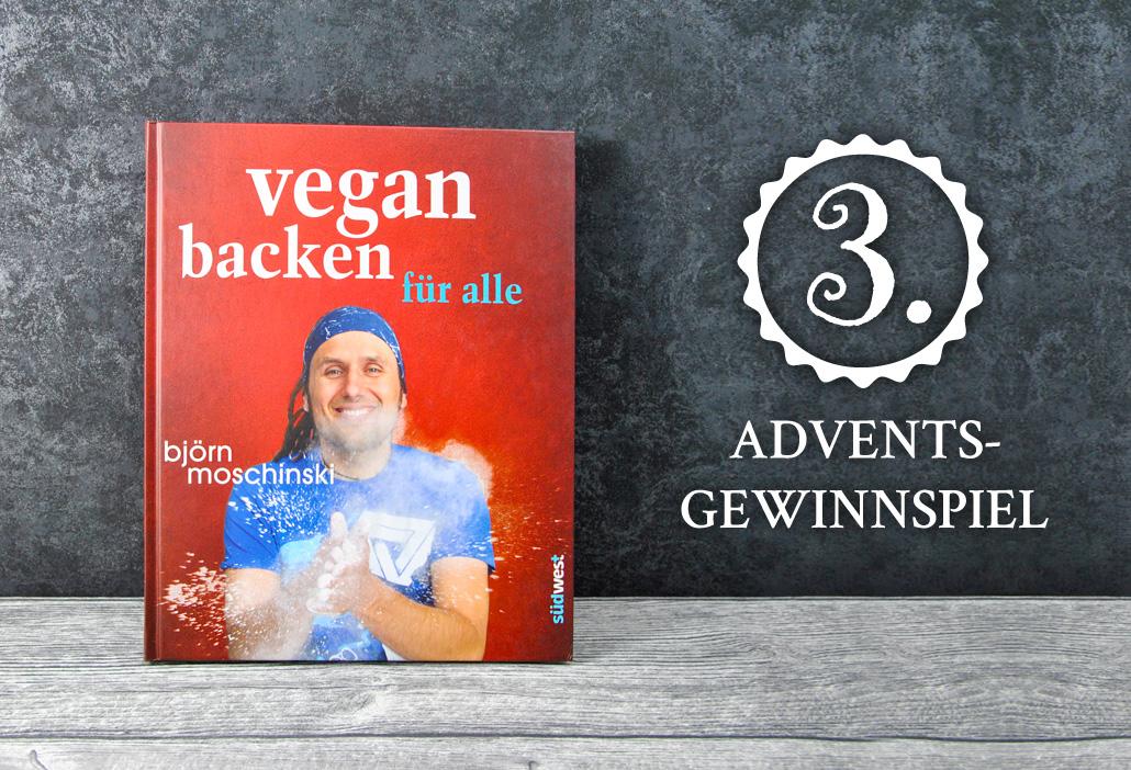"""Gewinne """"Vegan backen für alle"""" von Blörn Moschinski"""