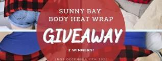 Buffalo Plaid Body Heat Wrap Giveaway (2 Winners
