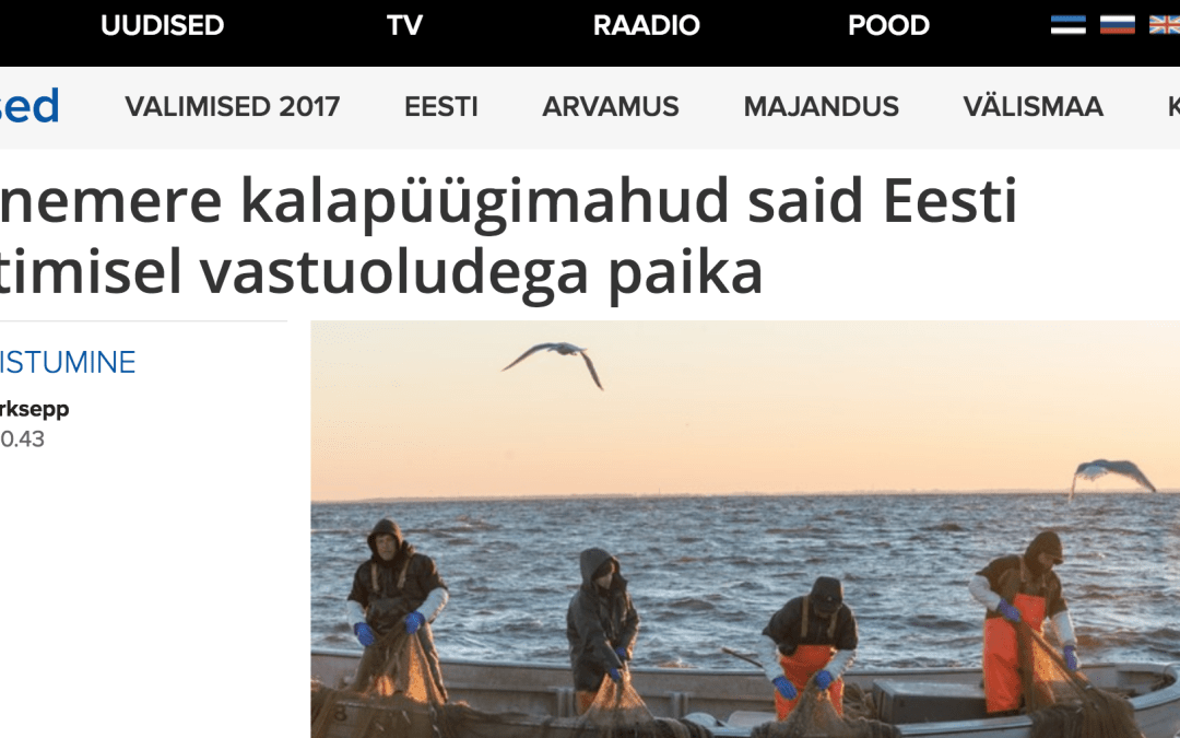 Estonia: Baltic sea fishing opportunities conflict with EU leadership