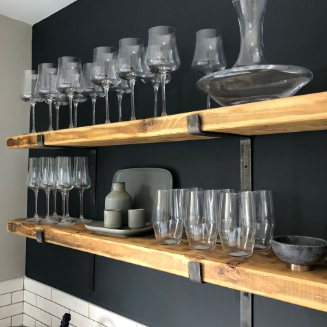Full range of quality glassware on show