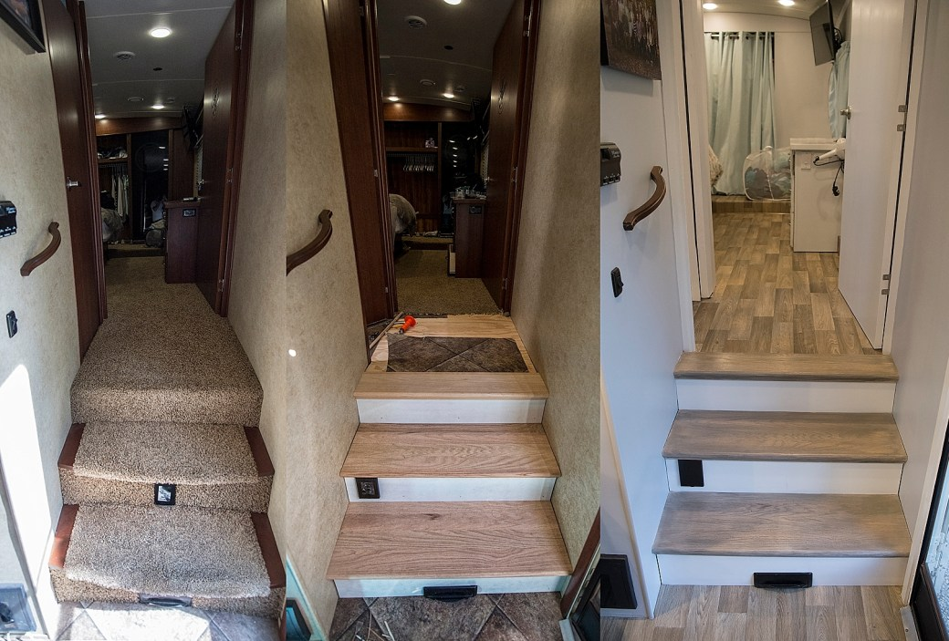 RV Renovation Carpet Removal