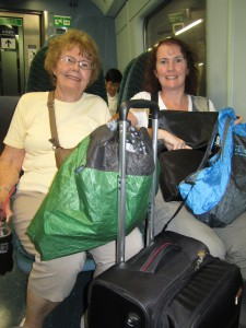 On our way back to Hong Kong with all our shopping
