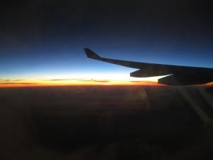 Sunrise from our Qantas flight