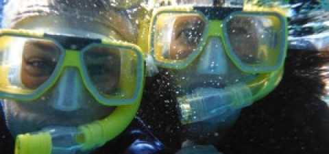 Me snorkelling for the first time & I loved it.