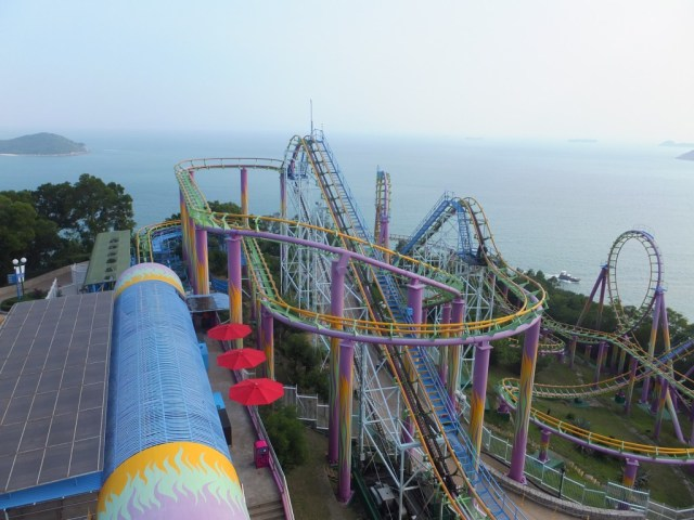 Roller coasters with awesome views, what more could you ask for.