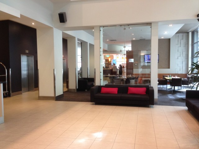 Foyer with Sirocco restaurant in the background.