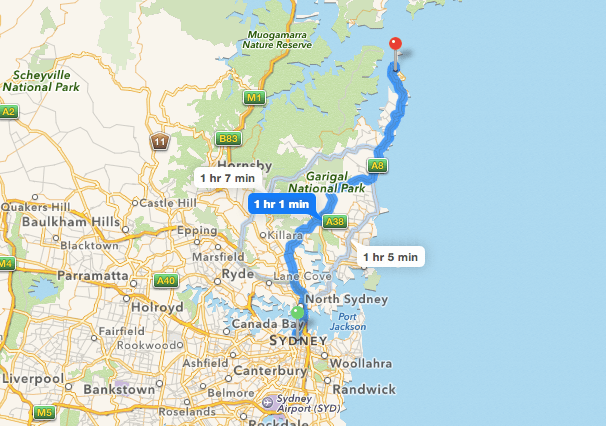 Sydney to Palm Beach