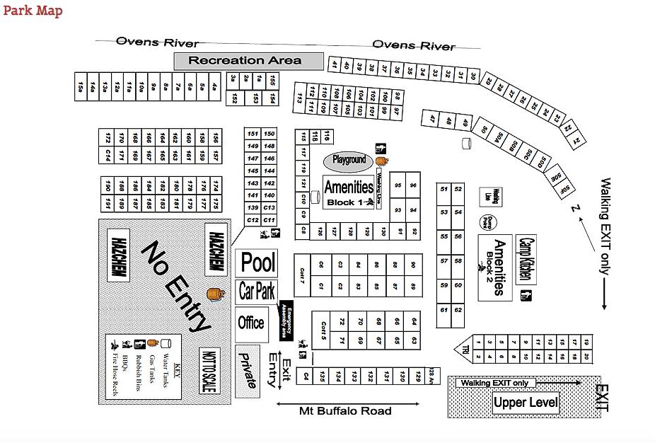 Site Map Porepunkah Bridge