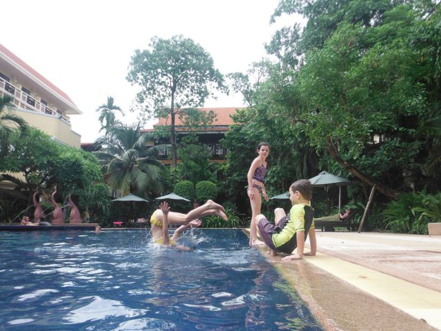 Pool time fun at the hotel, Prince d'Angkor Hotel & Spa
