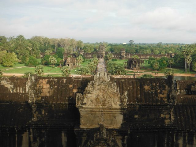 View from the central tower of Angkor Wat