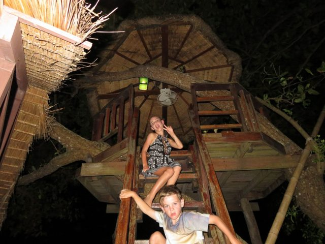 The tree house at the Reggae Bar, it was a hit with the kids.