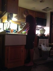 Clay washing dishes