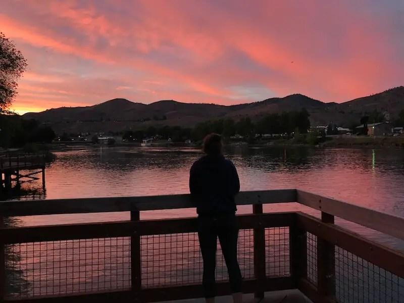 lake chelan at sunset