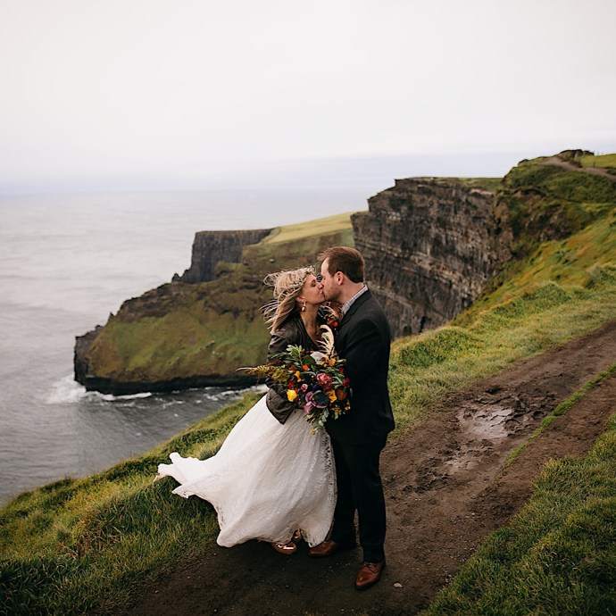 Cliffs of Moher elopement captured by Chattanooga photographer Our Ampersand Photography