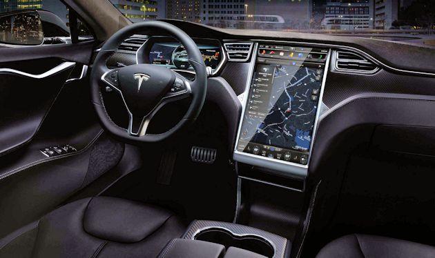 2015 Tesla S P85D dash