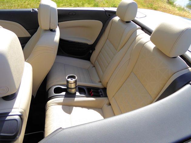 2016 Buick Cascada rear seat