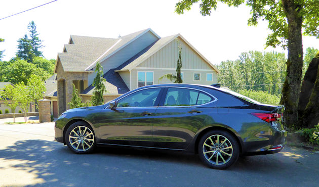 2016 Acura TLX side 2