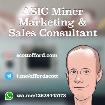Scott Offord ASIC Mining Equipment Consultant