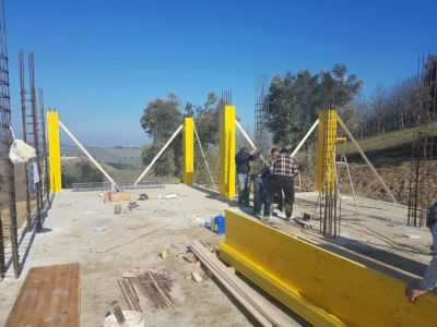 Another Column Form Done at new house construction site in Le Marche