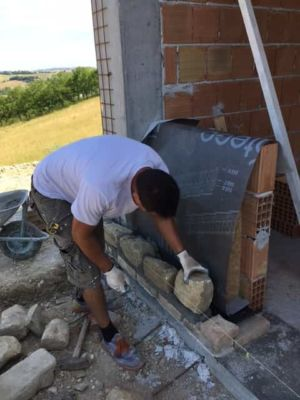 About to Finish First Course on a new stone house in Le Marche