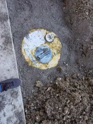Drain Outside Kitchen at a new house in Le Marche