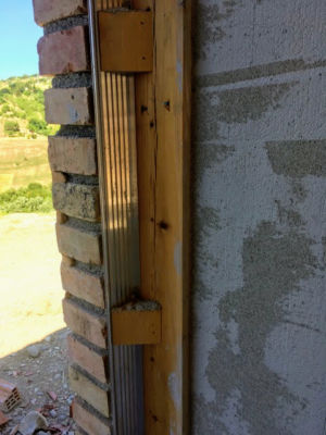 Example Window Frame of a new house being built in Le Marche