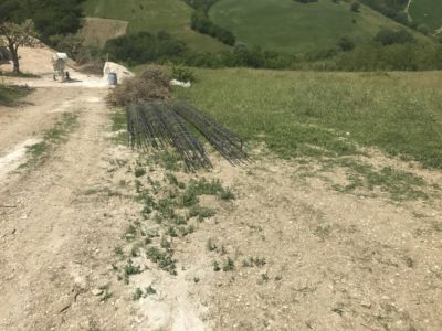 More Structural Steel  at site of a new house being built in Le Marche, Italy