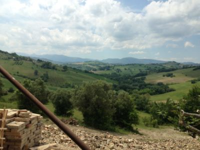 Mountains from Master Bedroom of a new house being built in Le Marche, Italy