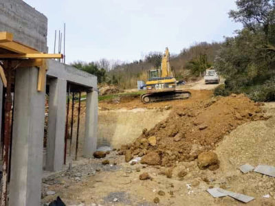 Starting to Move Earth for Parking Area as part of house construction project in Le Marche