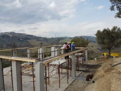 The Structural Cage for the First Floor as part of a new house in Le Marche