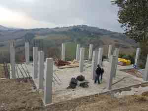 Reinforced columns complete