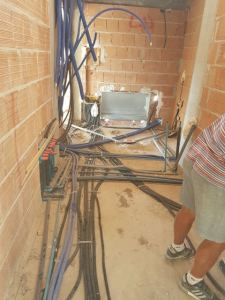 Wires and Pipes in Utility Room