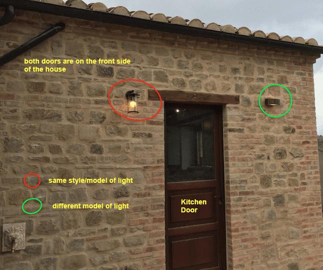Mismatched Kitchen Door Lights