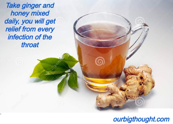 Take ginger and honey mixed daily, you will get relief from every infection of the throat