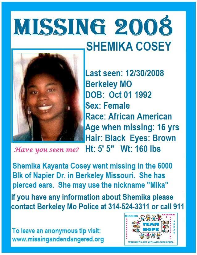 Shemika Cosey Missing