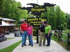 Sean, Christine, Chris & Donna (L-R) at Deal's Gap.