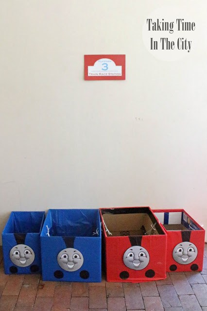 Our Boy Life - Thomas the Train Racing Game Boxes