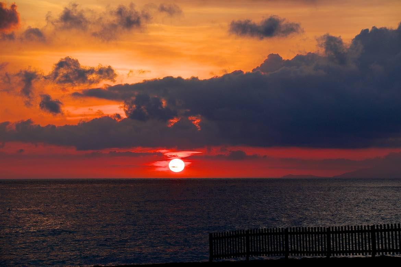 The sunset was amazing at Scalia