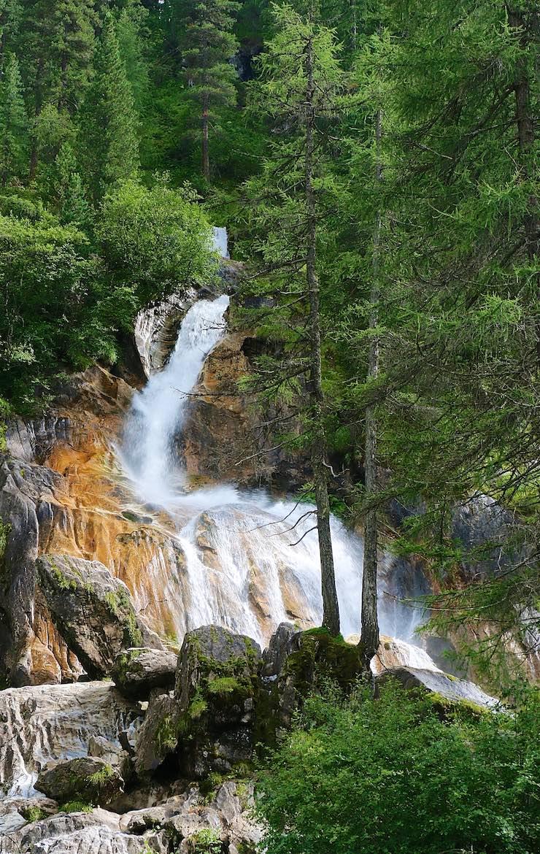 Mountain waterfalls.