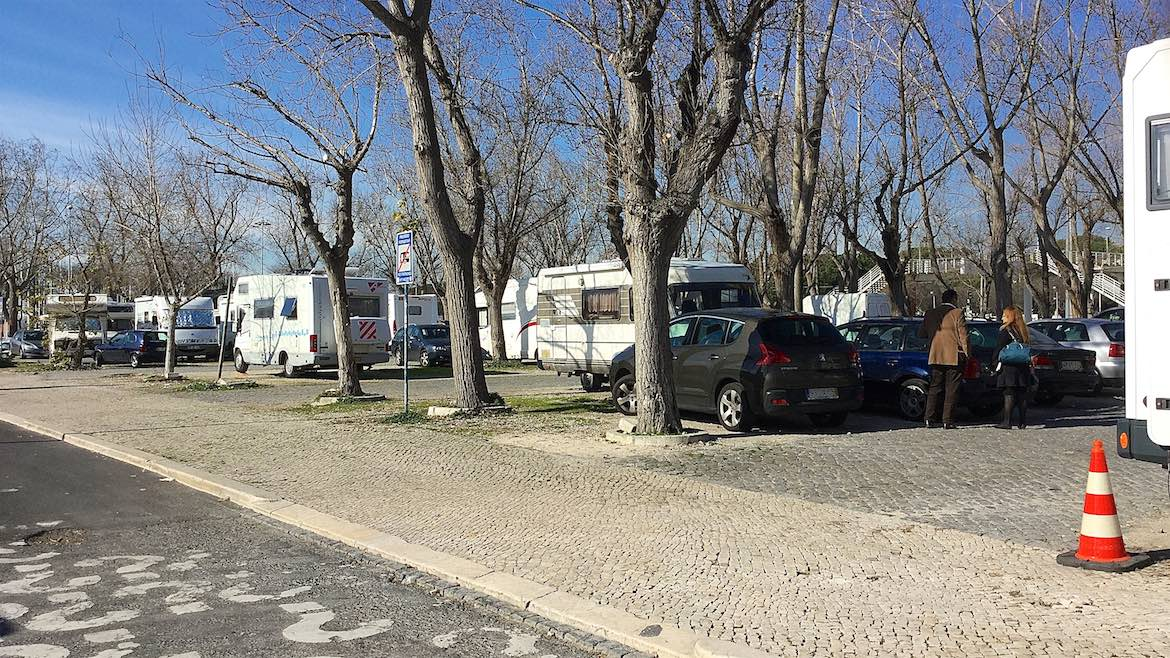 Parking area in Belem, Lisbon.