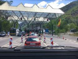 The border crossing at Spain & Andorra.