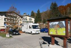 Ramsau parking & tourist office.