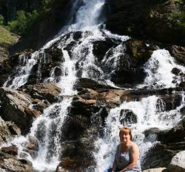 Nice cool waterfall spray