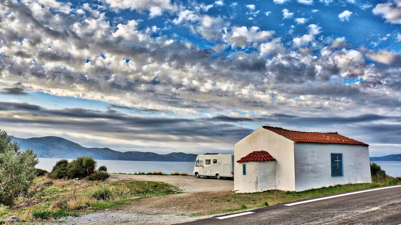 Our sleepy spot facing the island of Ydra