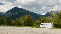 Motorhome parking Bourg St Maurice