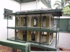 Cat shelter looks like the Hemingway house, Key West, FL