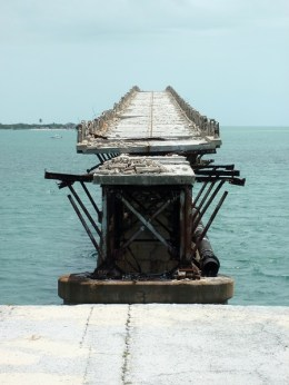 Old paved road atop the old Bahia Honda railroad bridge, Florida Keys