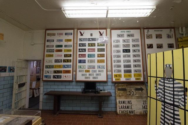 License plates made by prisoners